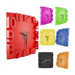 Reloj Cuadrado Alto Relieve